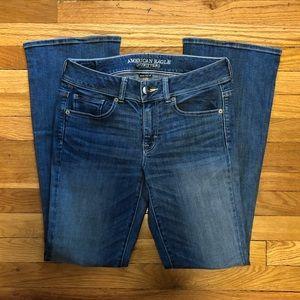 American Eagle Denim X Kickboot Jeans. Size 8R.